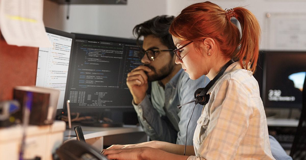 Two Developers Pairing on Programming