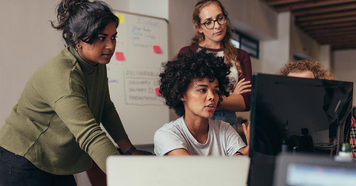 Group of women in tech