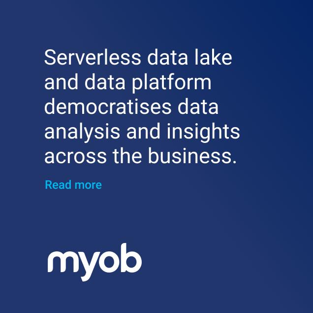 Myob serverless data lake and data platform