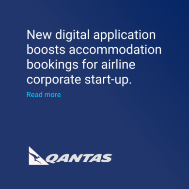 Qantas digital app for accommodation startup