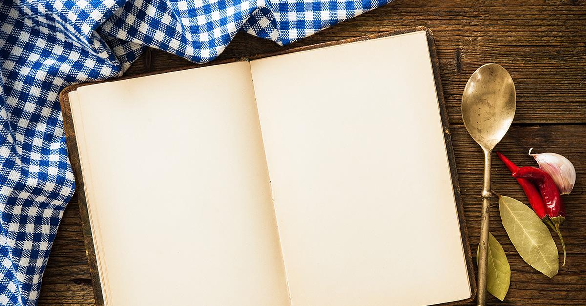 Open recipe book