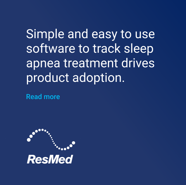 ResMed software to track sleep apnea