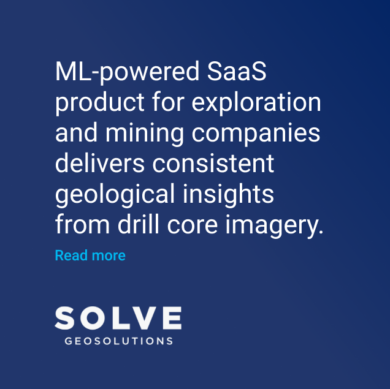 SolveGeo ML SaaS product for mining drill core imagery