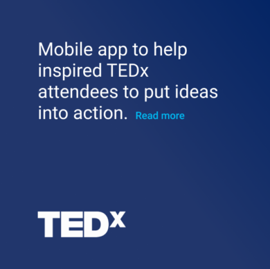 Tedx mobile app to put ideas into action