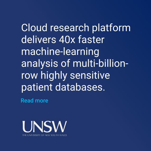 UNSW Cloud research platform ML analysis