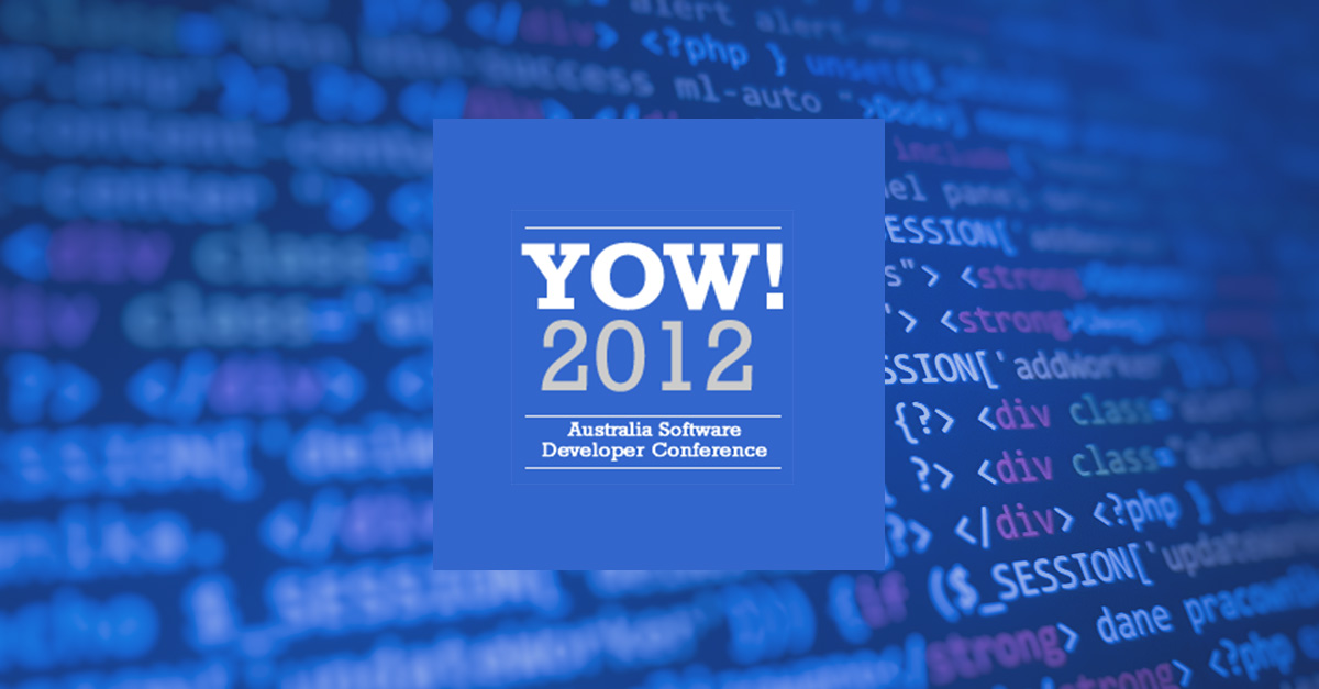 YOW! 2012 Australia Conference
