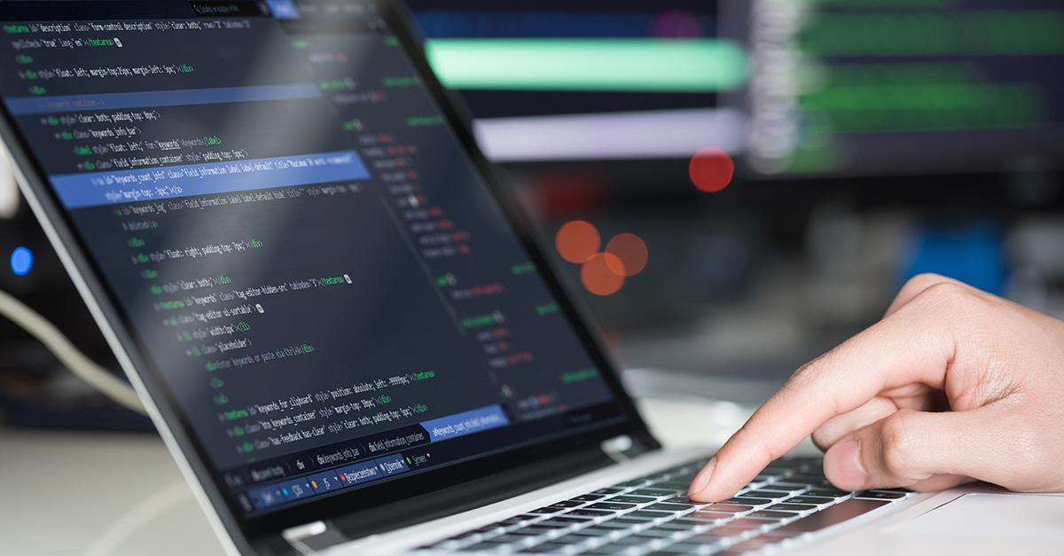 software developer coding