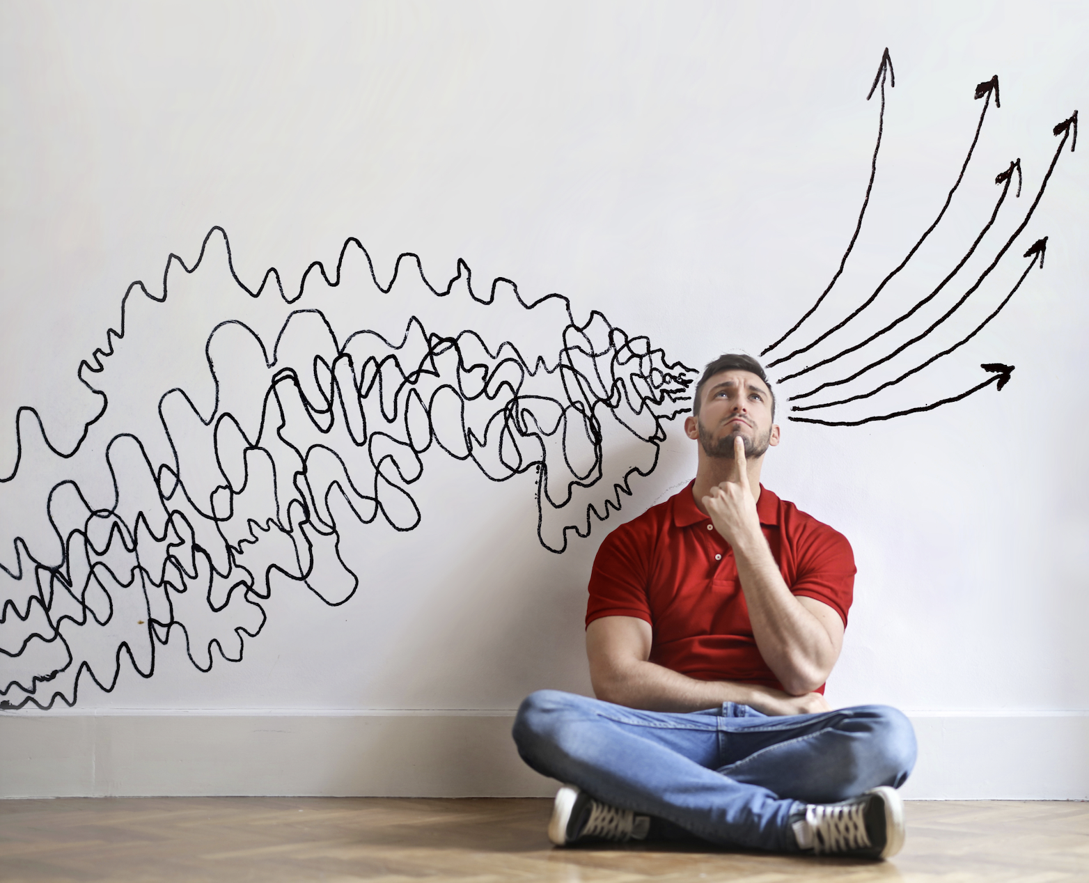 Man thinking about problem solving